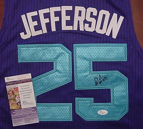 Al Jefferson Charlotte Hornets Autographed Purple #25 Jersey Size L JSA COA
