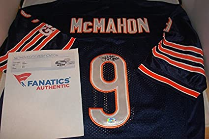 b4685f7be13 Jim McMahon Signed Chicago Bears Home Jersey, SB XX Inscription, Picture  Signing