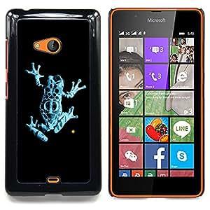 For Microsoft Nokia Lumia 540 N540 - Neon Blue Jungle Fringe Frog /Modelo de la piel protectora de la cubierta del caso/ - Super Marley Shop -