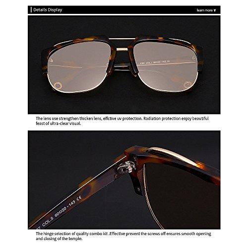de de Gafas sin Playa Libre Sol de Color Peggy Semi Verano Ultravioleta al Vacaciones Montura Protección Gu para Las Aire C5 C6 Conducción Unisex la qFHIY