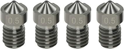 Aibecy Boquillas de acero endurecido 4pcs Boquillas V6 0.5mm para ...