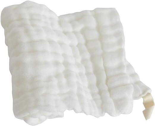LafyHo Suave Gasa de algodón sólido del bebé pañuelo de los niños ...