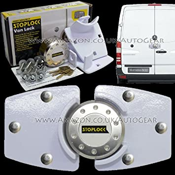Stoplock White High Security Anti Theft Van Door Lock Hasps Padlock /& 3 Keys
