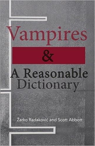 Vampires and A Reasonable Dictionary