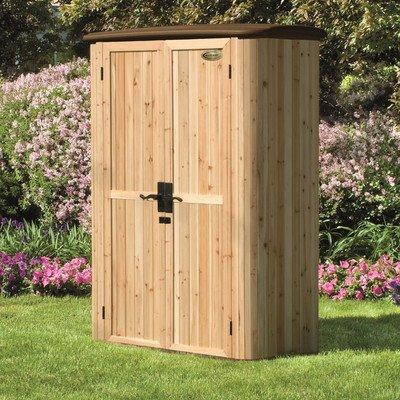 Suncast Wood/Resin Vertical Shed (Outdoor Vertical Storage Cabinet)