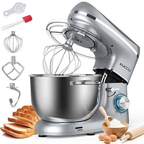 KUCCU Stand Mixer, 6 Qt 660W, 6-Speed Tilt-Head Food Dough Mixer, Kitchen Electric Mixer with Stainless Steel Bowl,Dough…