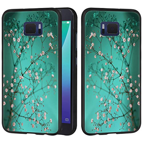 Asus Zenfone V Case, Linkertech Slim Air Armor Thin Fit Silicone Gel Soft TPU Bumper Durable Flex and Easy Grip Protective Case for Asus ZenFone V V520KL (5.2) (Plum Blossom)