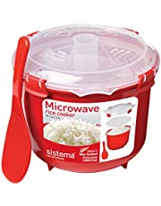 Save on Sistema Microwave Rice Cooker, 2.6 L - Red/Clear and more
