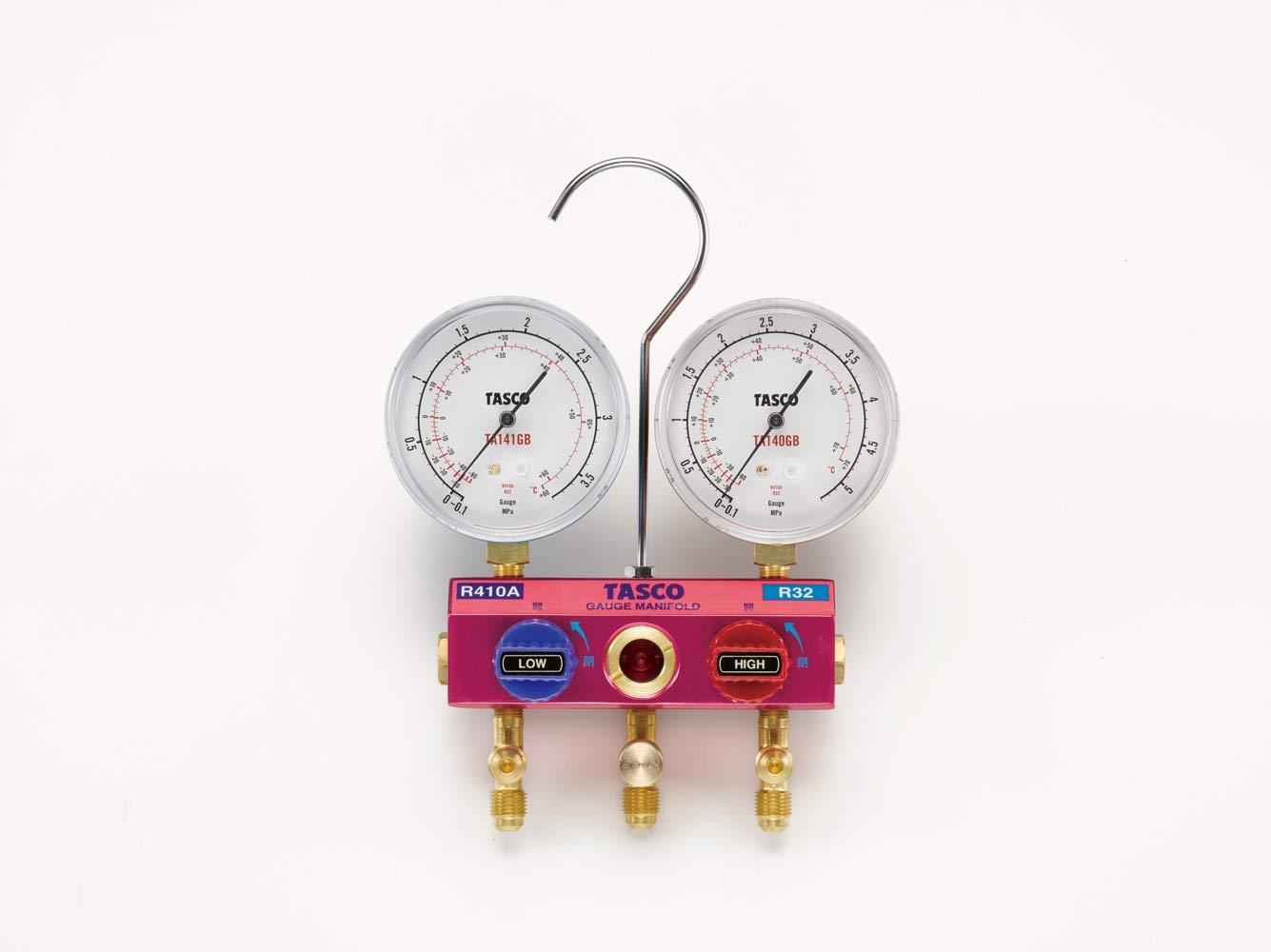 イチネンTASCO TA122GB-1 R410A/R32ゲージマニホールドキット