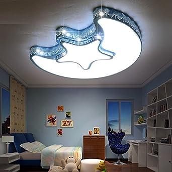 Malovecf Blau Kinderzimmer Stern Lampe Junge weibliche Runde 45 cm ...