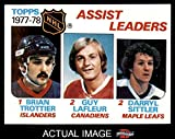 1978 Topps # 64 League Leaders Brian Trottier / Guy Lafleur / Darryl Sittler Islanders / Candiens / Maple Leafs (Hockey Card) Dean's Cards 8 - NM/MT Islanders / Candiens / Maple Leafs