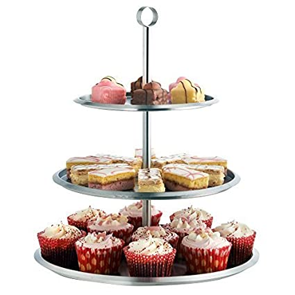 amazon com vonshef 3 tier cake serving stand tray to display cakes