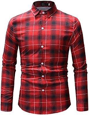 ouxiuli Mens Button Up Shirts Slim Fit Dress Shirts Long-Sleeve Button Down Shirts
