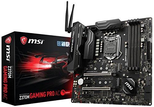 MSI Z370M GAMING PRO AC Micro ATX Motherboard (Motherboard Pentium Desktop M)
