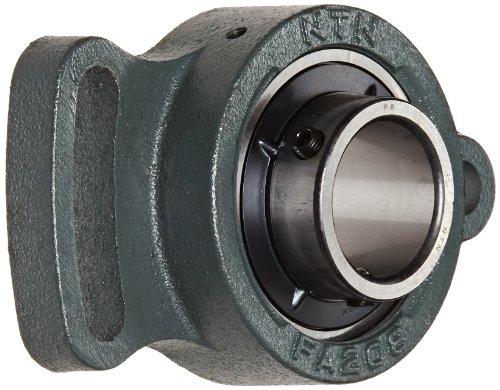 - NTN UCFA208D1 Light Duty Adjustable Flange Bearing, 2 Bolts, Setscrew Lock, Regreasable, Contact and Flinger Seals, Cast Iron, 400mm Bore, 5-19/32