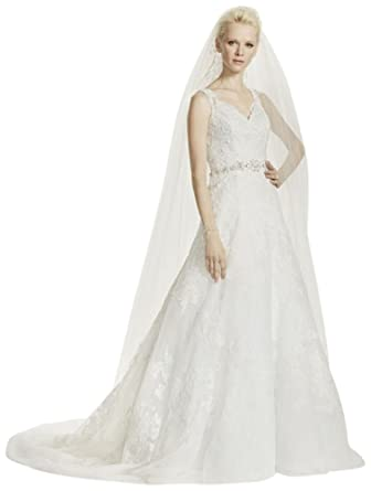 192414299ac3 Sample: Oleg Cassini A-Line Lace Wedding Dress Style AI14040304 at Amazon  Women's Clothing store: