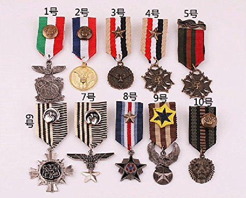 - Korean jewelry wholesale in Europe and America style British Institute of Naval badge brooch small badge medal of men and women
