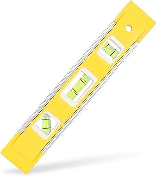 "4 6/"" inch Mini Magnetic Torpedo Level Carpenter  Framing Bubble Level Yellow"