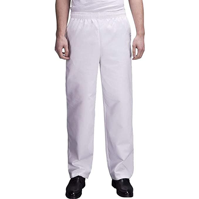 d952efa30857a8 Bverionant Baggy Chef Pant with Elastic Waist Basic Kitchen Uniform Pants  Men Unisex Hotel Restaurant Uniform