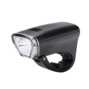 Tbest Luz LED Delantera para Bicicleta, Linterna de Bicicleta Delantera Faros LED Ciclismo Nocturno Linterna de Seguridad 3 Modos de Iluminación Funciona con 3 Pilas AA (No Incluidas): Amazon.es: Deportes y aire