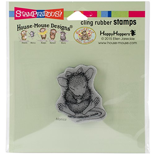 STAMPENDOUS Rubber Cling House Mouse Stamp Sitting Pretty]()