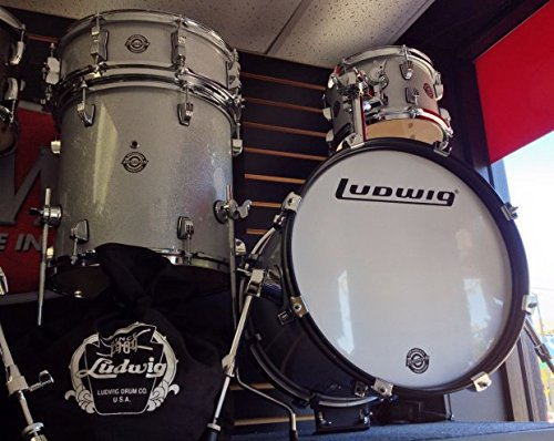 2013 Ludwig LC179X028 BreakBeat by Questlove 4pc Shell Pack White Sparkle