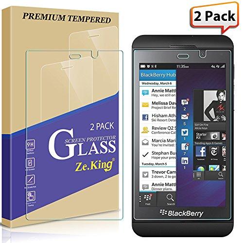 [2-Pack] BlackBerry Z10 Tempered Glass Screen Protector, Zeking 0.33mm 2.5D Edge 9H Hardness [Anti Scratch][Anti-Fingerprint] Bubble Free, Lifetime Replacement Warranty