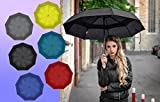 Pixi Air Travel Umbrella- Top Windproof Compact Double Canopy Lightweight Wind Resistant & Sunproof Umbrella- Best Folding Sturdy Auto Open/ Close Portable Umbrella, Easily Carried In All Your Travels
