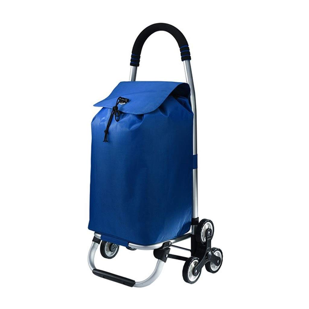 Hzpxsb Shopping Trolley - Household Portable Small Cart - Foldable Luggage Grocery Cart - Suitable for The Elderly