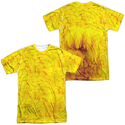 [Sesame Street - Big Bird Costume Adult All Over Print 100% Poly T-Shirt L] (Big Bird Male Costumes)