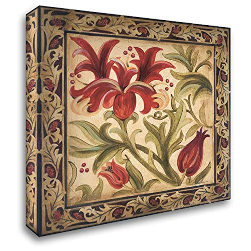 Floral Daydream I 28x28 Gallery Wrapped Stretched Canvas Art by Jardine, Liz