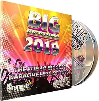 KARAOKE 2019 CD+G (CDG) Disc Pack  The Top 40 Chart Pop Songs of 2019  Mr  Entertainer Big Hits  Ariana Grande, Ava Max, Billie Eilish, Khalid, Lewis