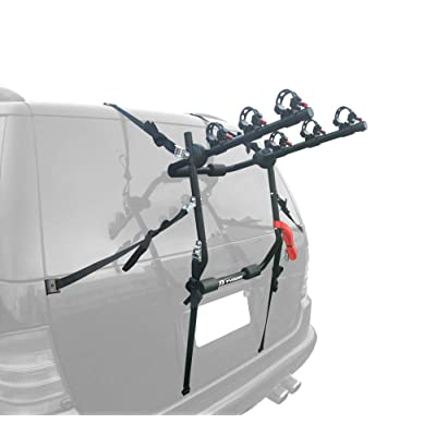 Tyger Auto TG-RK3B203S Deluxe 3-Bike Trunk Mount Bicycle Rack. (Fits Most Sedans/Hatchbacks/Minivans and SUVs.): Automotive