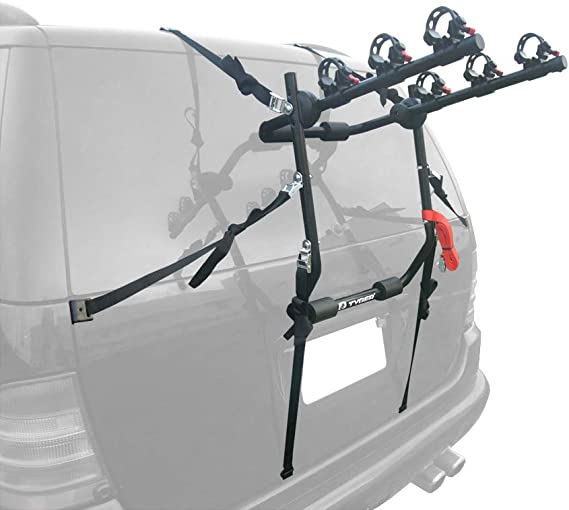 Tyger Auto TG-RK3B203S Deluxe 3-Bike Trunk Mount Bicycle Rack. (Fits Most Sedans/Hatchbacks/Minivans and SUVs.)