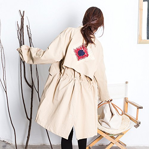 Medium Wind To Code Long To In Xuanku Relaxd The Of Khaki8883 Medium Jacket Smile Foutune Term Mean Term Long Badge w6UnEx6W