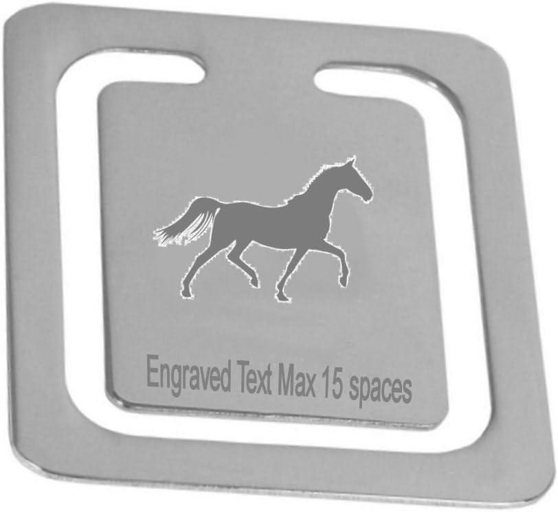 Grabado de Stud raza caballo favorito ~ personalizado logotipo página marcador ~ en caja