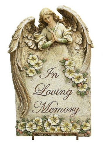 (Napco In Loving Memory Plaque, 15-1/2-Inch Tall)