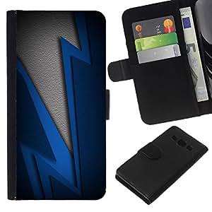 All Phone Most Case / Oferta Especial Cáscara Funda de cuero Monedero Cubierta de proteccion Caso / Wallet Case for Samsung Galaxy A3 // Blue Lightning