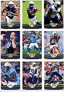 San Diego Chargers 2013 Topps Complete Hand Collated Regular Issue 12 Card Team Set Including Philip Rivers, Antonio Gates, Keenan Allen Plus