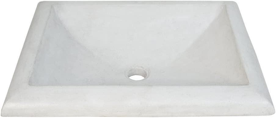 Native Trails NSL2216-P Montecito Native Stone Drop-in Bathroom Sink, Pearl