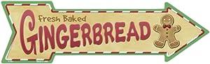 Smart Blonde Outdoor Decor Gingerbread Novelty Metal Arrow Sign A-161
