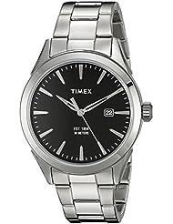 Timex Mens TW2P77300AB City Collection Analog Display Quartz Silver-Tone Watch