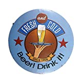 DL-Fresh and cold beer Hanging Painting Retro Gift Metal Plaque Craft Hotel bar decor