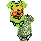 "TMNT Baby Boys' ""Turtle Chest"" 2-Pack Bodysuits"