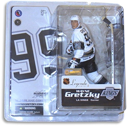 Wayne Gretzky McFarlane Legends Series 2 Figure Los Angeles Kings White Jersey - Kings White Jersey