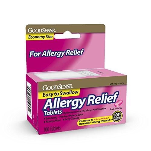 GoodSense Allergy Relief Diphenhydramine HCl 25 mg Antihistamine, 100-Count Allergy -