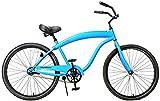 "Fito Modena Sport II Single 1-speed for Man - Matte Blue, 26"" Wheel Beach Cruiser Bike"