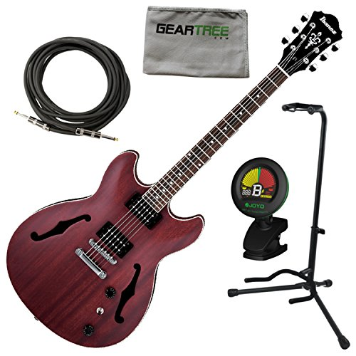 (Ibanez AS53TRF AS Artcore Semi Hollow Electric Guitar Transparent Red Flat w/Ca)