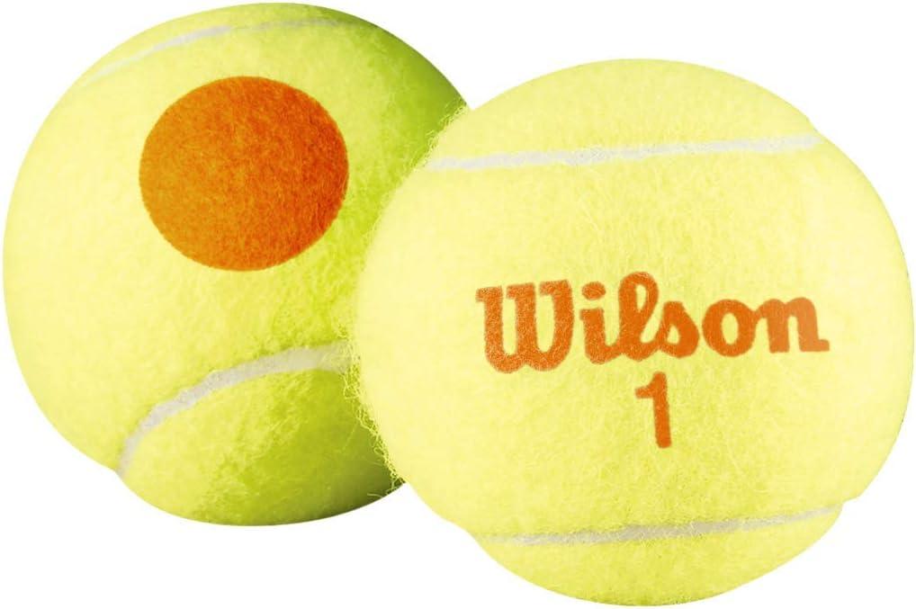 Wilson Starter Orange Pelotas de tenis, pack de 3, para niños, amarillo/naranja