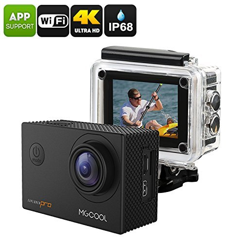 MGCOOL Explorer Pro Action Camera - Interpolated 4K, IP68, Sony IMX179 Image Sensor, 170-Degree Lens, 1050mAh, App Control, 16MP by Motion Capture
